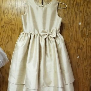 Champagne Junior Bridesmaid dress Girls sz 10